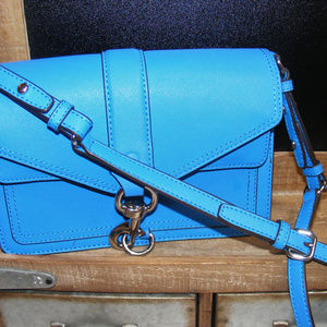 REBECCA MINKOFF BLUE CROSSBODY PURSE Saffiano